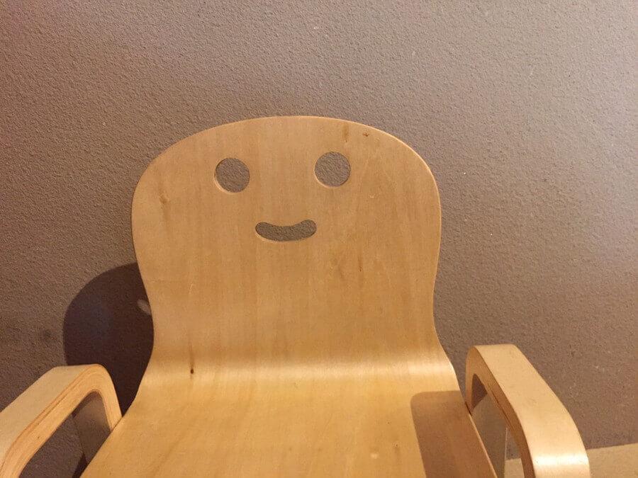 笑顔のイス